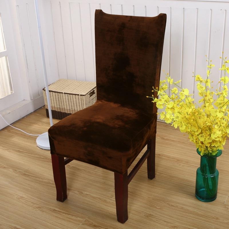 1 4 6pcs Stretch Velvet Dining Chair Covers Slip Seat