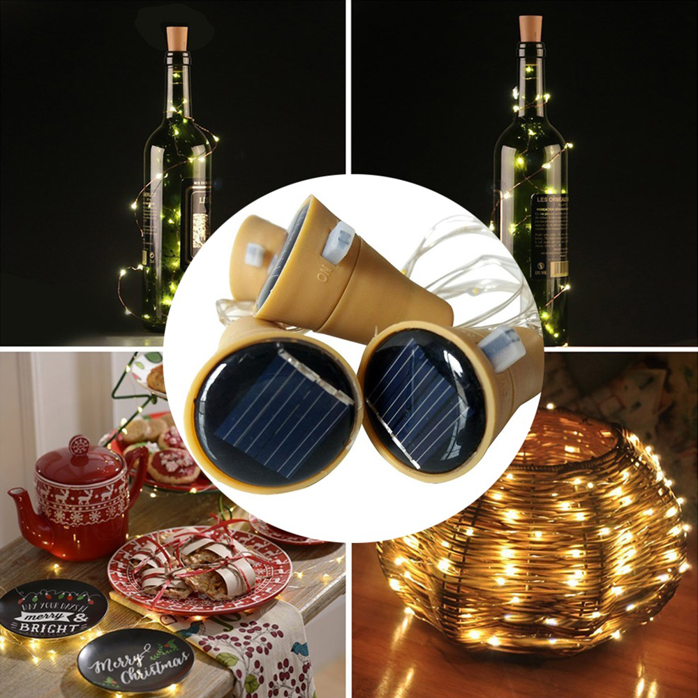 1 3 6pack Solar Wine Bottle Fairy String Light Cork Starry