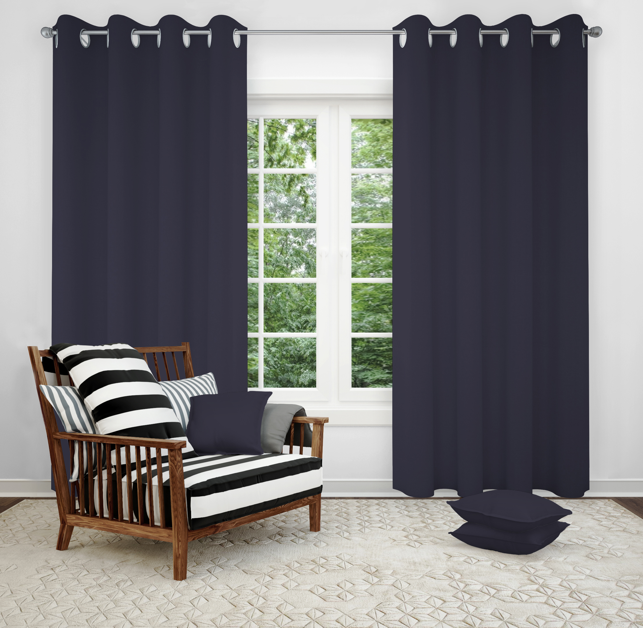 Details about Window Eyelet Curtains Thermal Blackout Ring Top Curtain 3  Layers Material 2 PCS